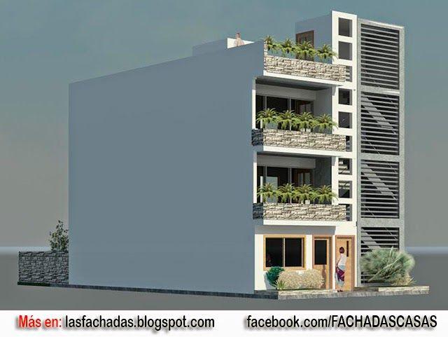 Fachada de vivienda multifamiliar arquitectura for Viviendas minimalistas
