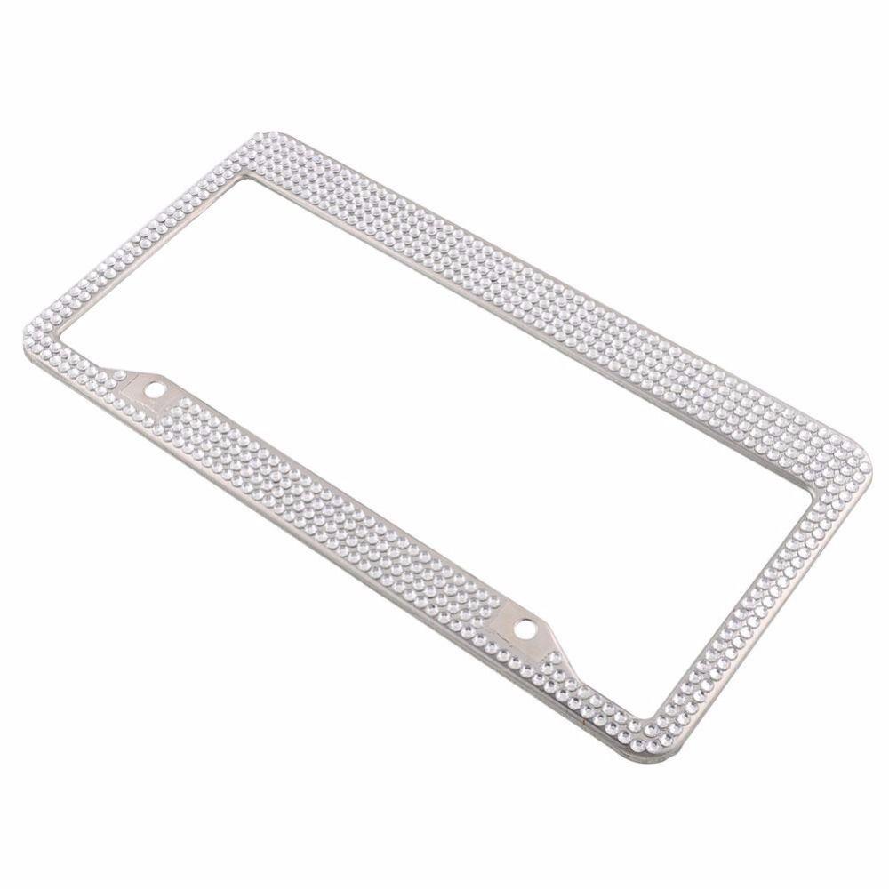 Steel Metal Noble Luxury White Silver Bling Glitter Crystal Car ...