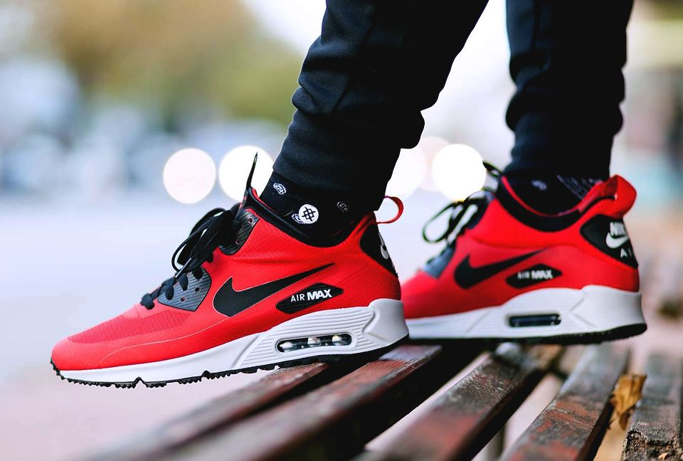 dc5f1b3ed54ef0 Nike Air Max 90 Mid Winter  Gym Red  (via Kicks-daily.com)