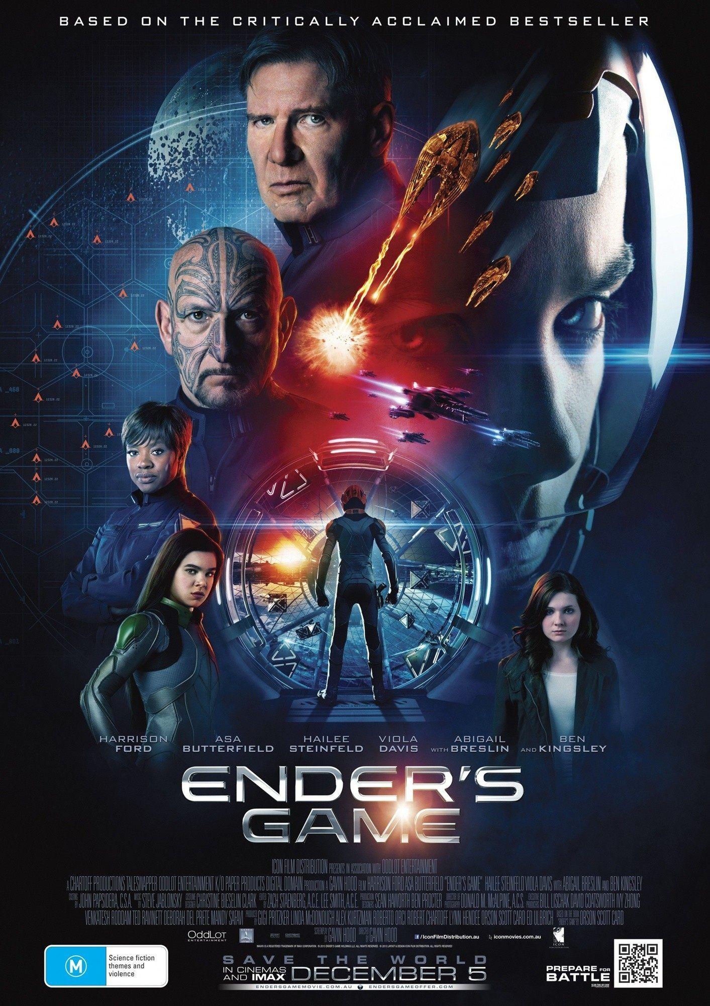 Download Ender's Game (2013) Dual Audio (Eng-Hindi) 720p BluRay   Ender's game movie, Ender's game, Movie game