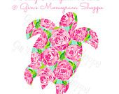 Lilly Pulitzer Turtle Decal