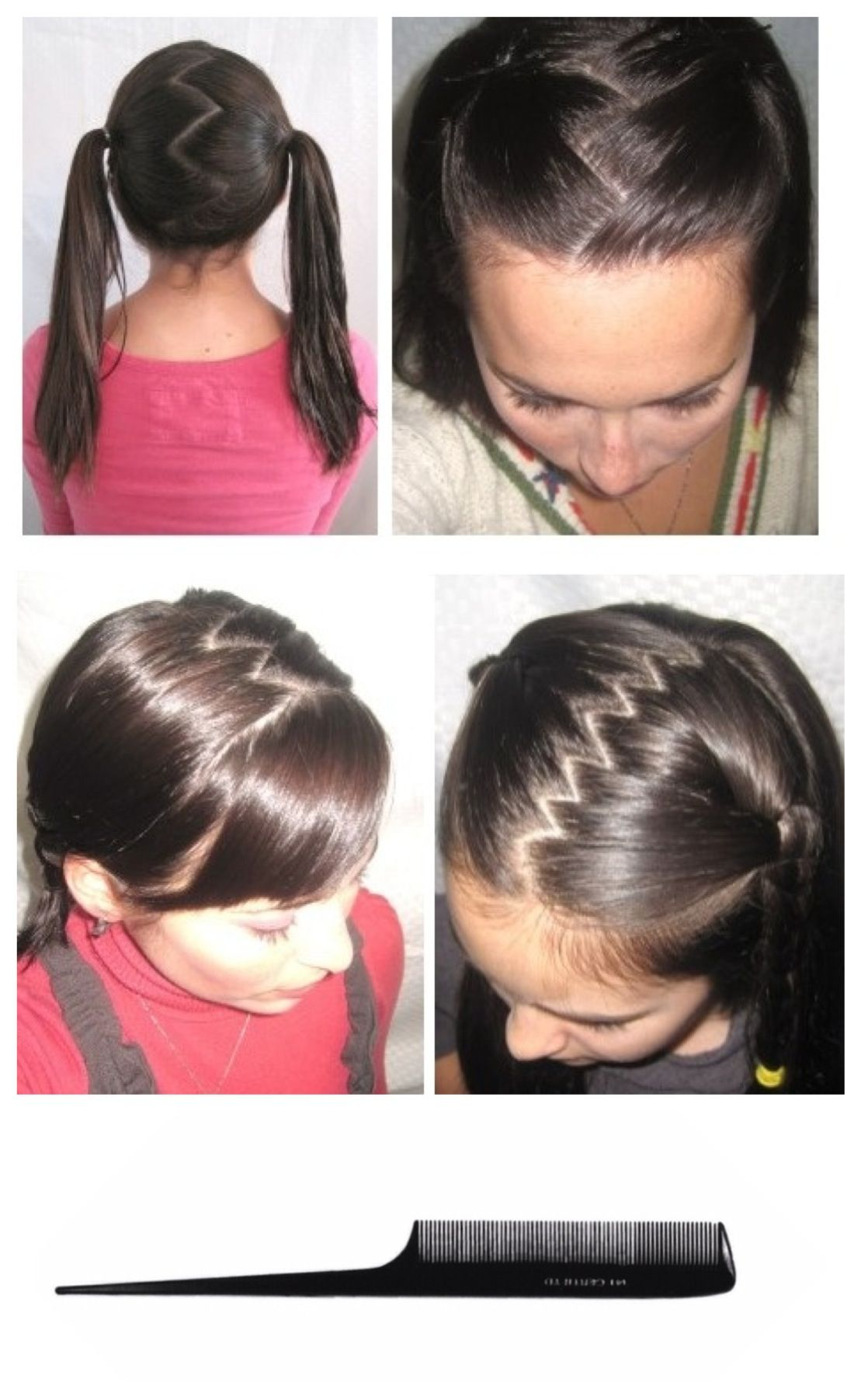 zig zag hair part - used 2 struggle