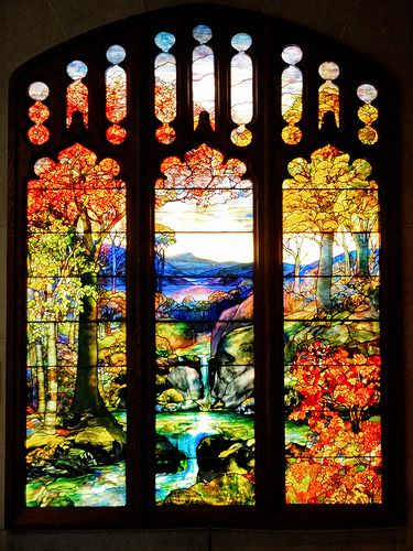 Louis Comfort Tiffany Autumn Landscape Stained Glass Metropolitan Museum Ny Tiffany Stained Glass Stained Glass Art Stained Glass Windows