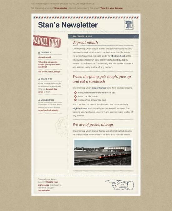 10 Excellent Email Newsletter Templates For Free Download ...