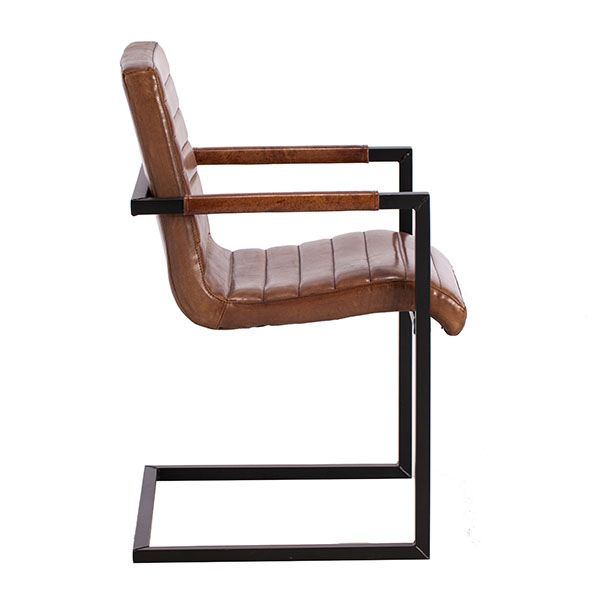 Brutus Buffalo Leather Dining Chair, Brown | Dining Chairs | Dining Room