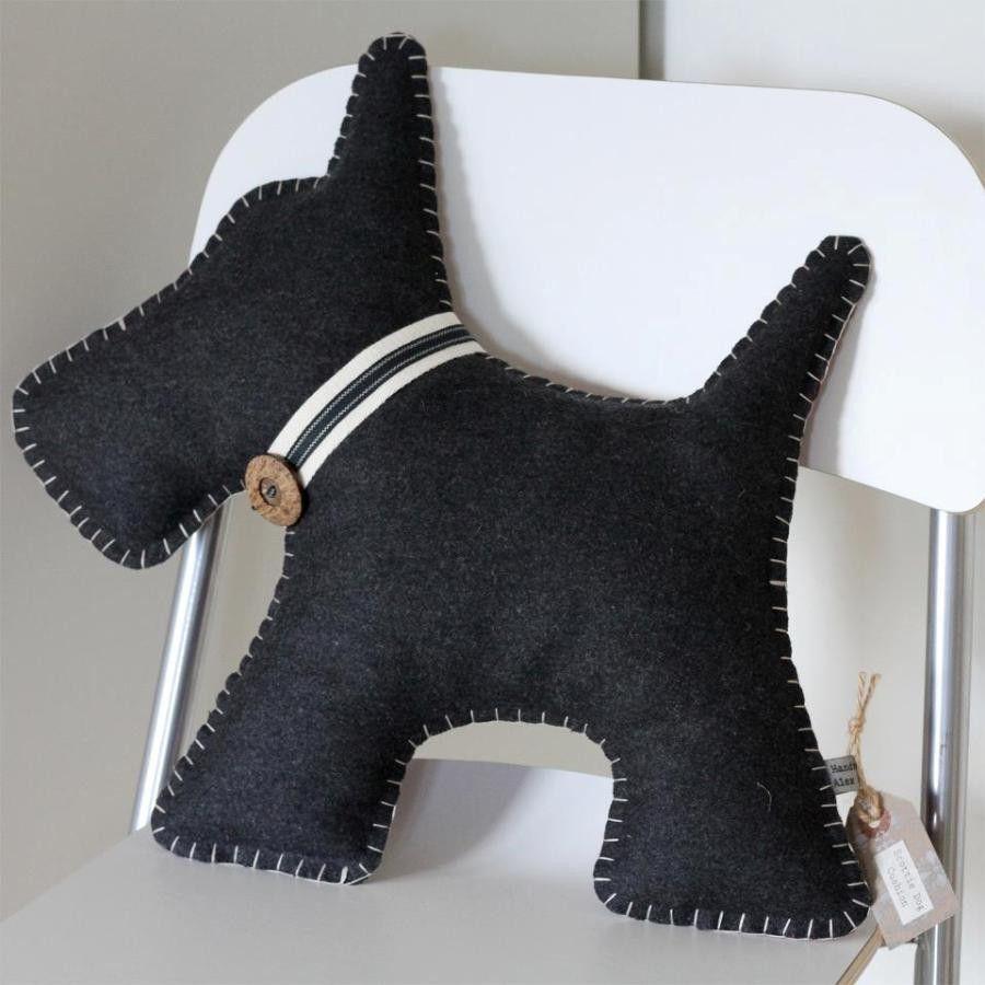 scottie dog cushion the tartan