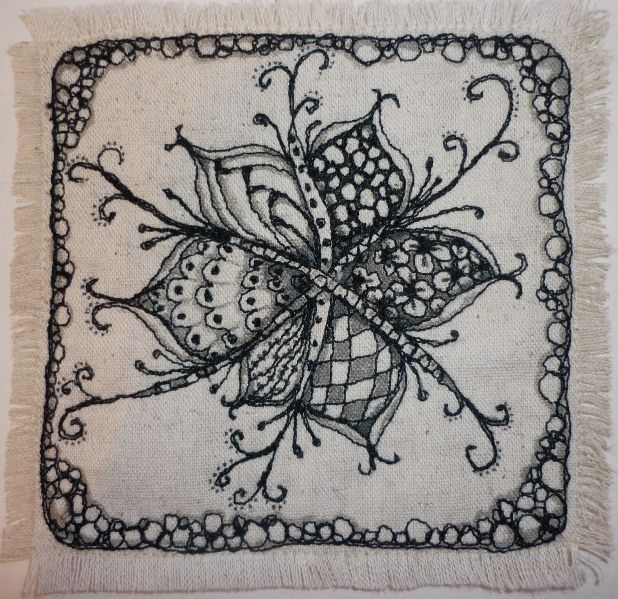 quilted zentangle 002 | Flickr - Lorraine (isleofskyelorry) -- this is free-machine embroidery!