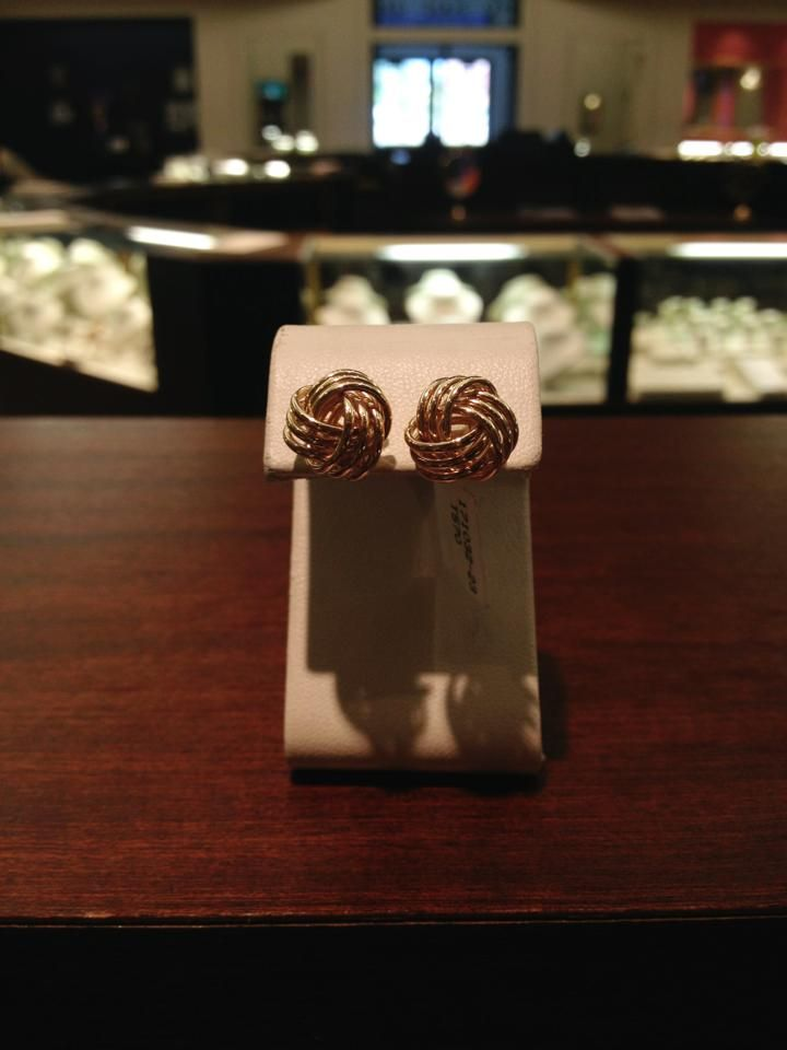 These Love Knot earrings are 14k and only $395! We love these gold studs!