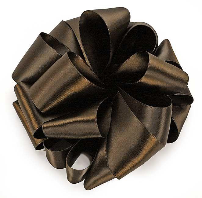 Chocolate brown antique silk ribbon 3 yds