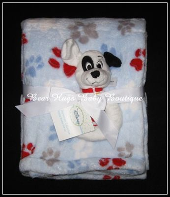 Disney 101 Dalmations Rattle And Baby Blanket Gift Set Baby Blanket Gift Baby Disney Disney Blanket