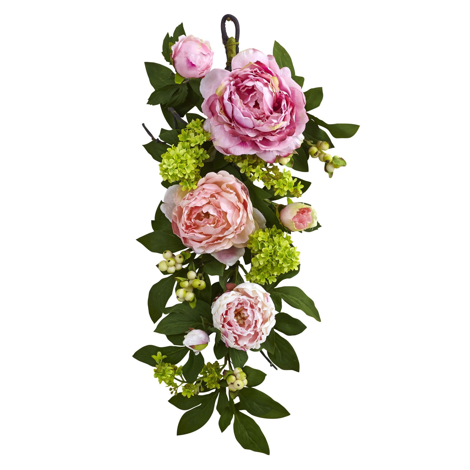 """This bright 24"""" Mixed Peony & Hydrangea Teardrop is sure to bring a smile to anyone's face"""