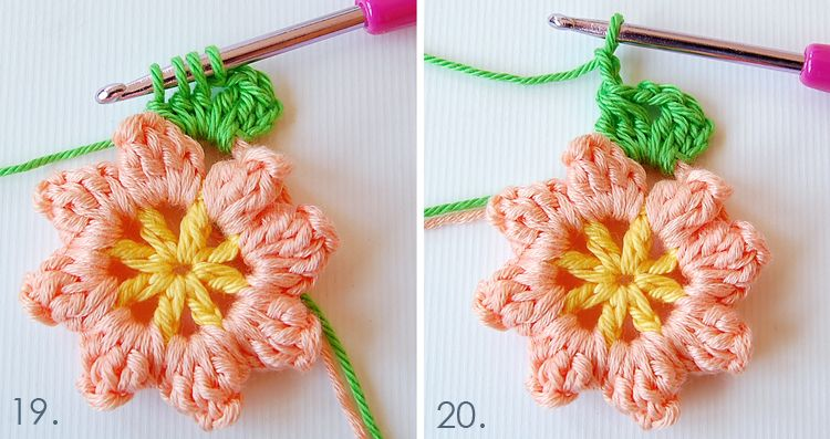Dada\'s place: Primavera Flowers Granny Square Tutorial | More Yarn ...