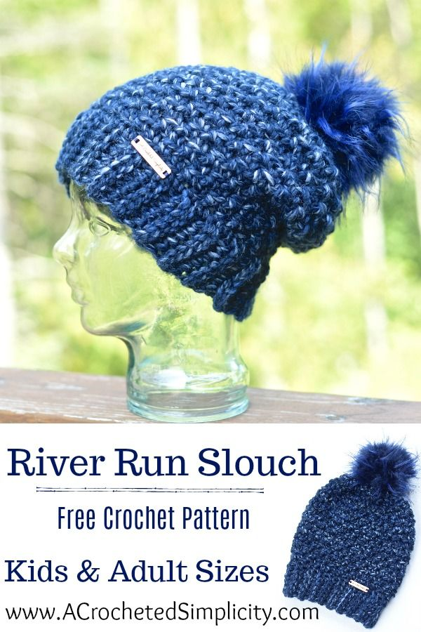 River Run Slouch Crochet Pattern - #HatNotHate | Top Blogs ...