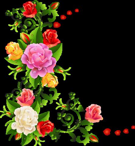 Flores Vectorizadas Papel Pintado Flores Rosas