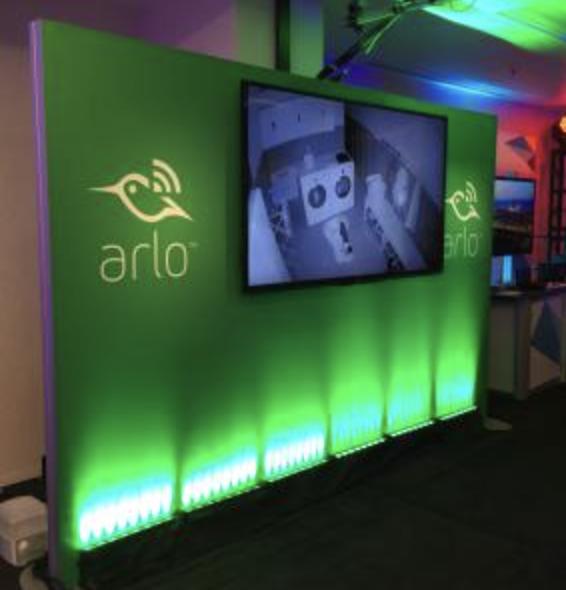 Exhibition Booth Mockup Psd : Illuminated trade show monitor rental wall visit