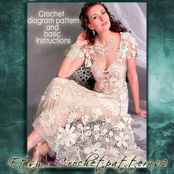 Instant Download Wedding Dress crochet pattern. English! Crochet ...