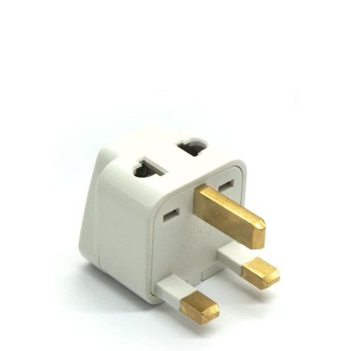 Universal UK to EU Euro AC Power Plug Charger Adapter Socket Converter B2AD