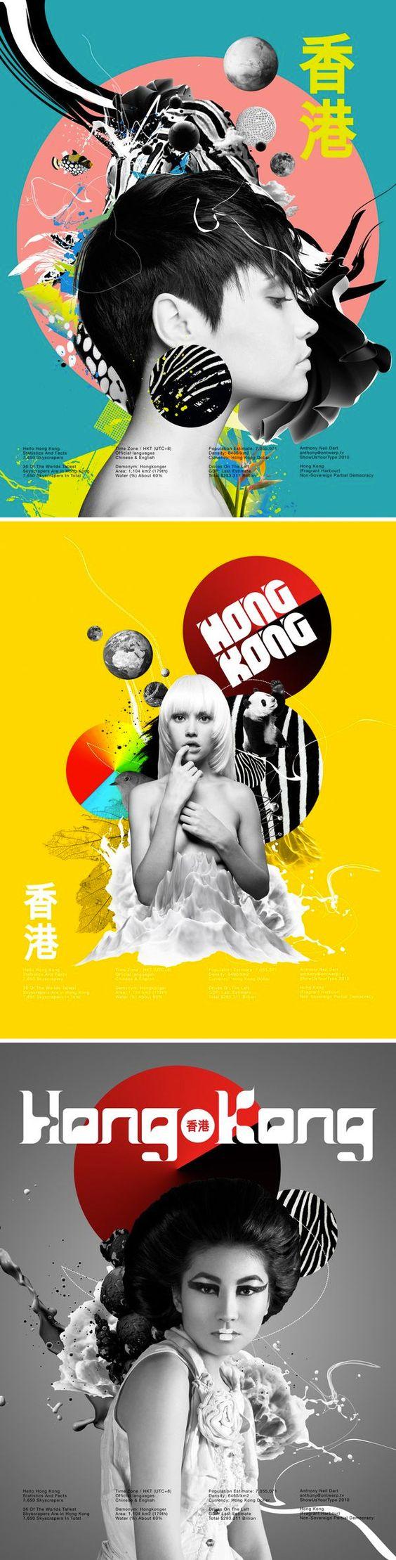 Poster design hong kong - Poster Set Neue Hong Kong By Anthony Neil Dart