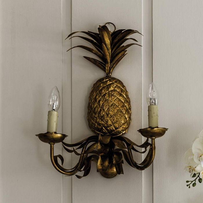 Pineapple Wall Sconce in 2019 | Wall sconces, Candle wall ...