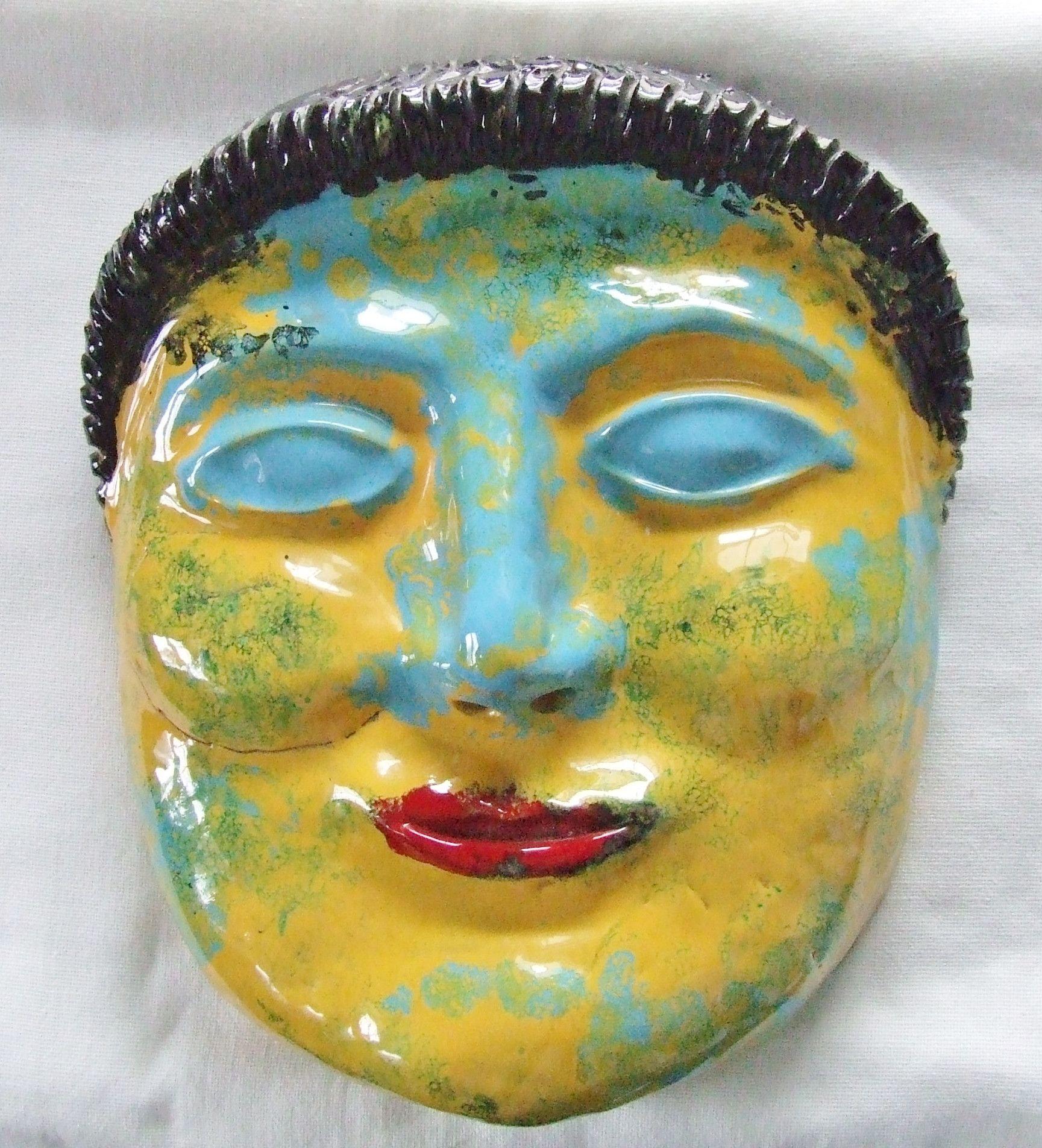 Massive Pinca Grottaglie Mid Century Pottery Garden Mask   Masking ...