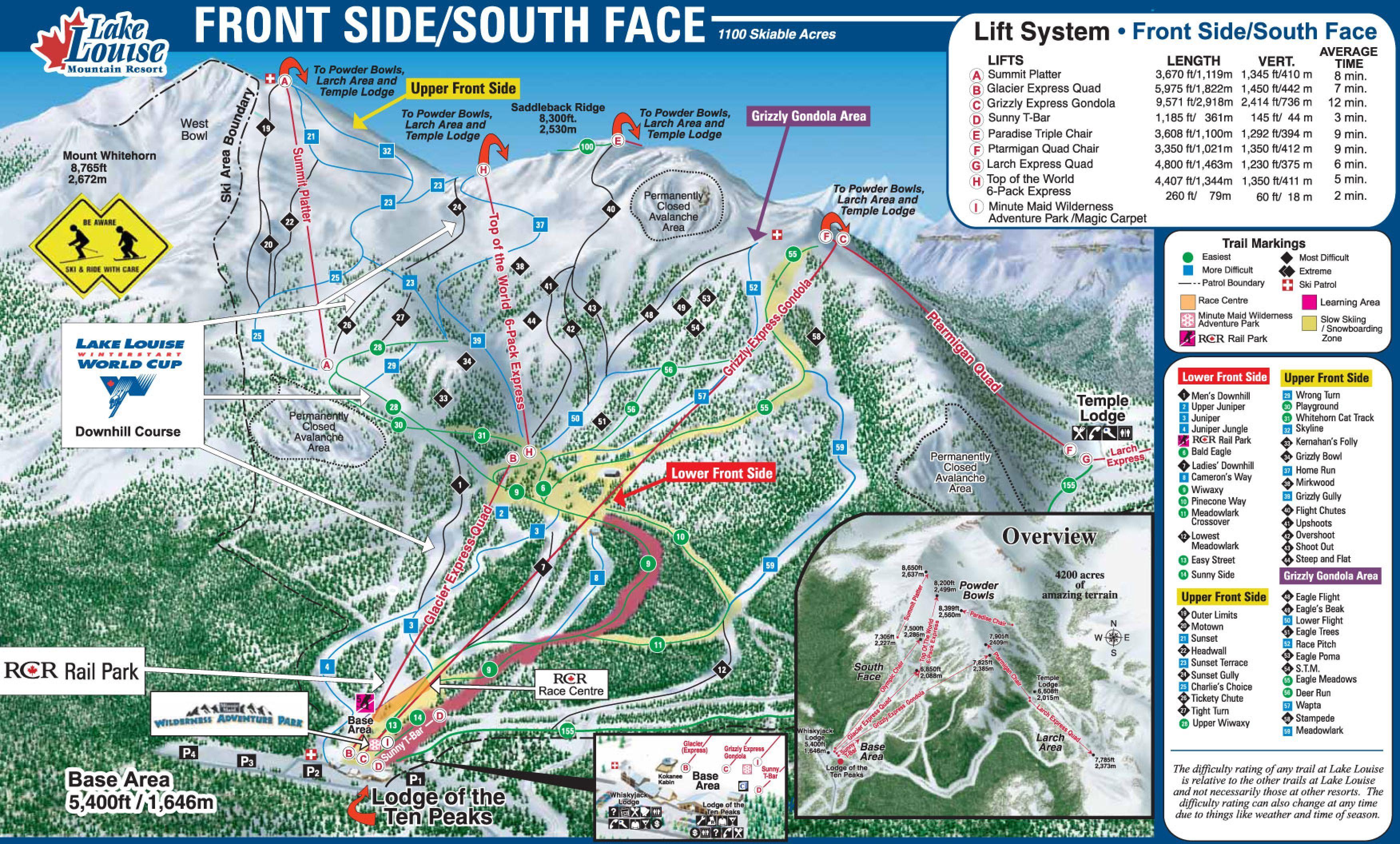 2008 or 2009 Family Trip | Ski Vacation Trail Maps | Skiing, Lake ...