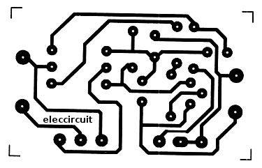Copper-PCB-layout of Simple Handheld Electronic Pulse Massager ...