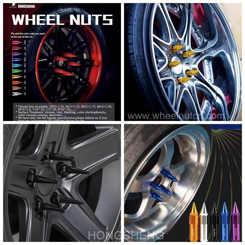 M12 M14 Cool Spiked Racing Car Lug Nut Wheel Wheel Lock Car