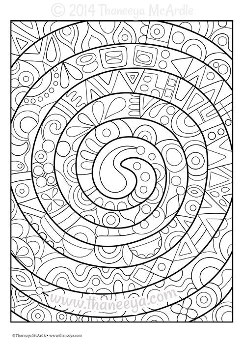 Fun And Funky Coloring Book Blank Page Abstract Coloring Pages