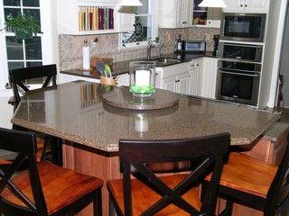 Matching granite table and countertop | Granite table, Table ...