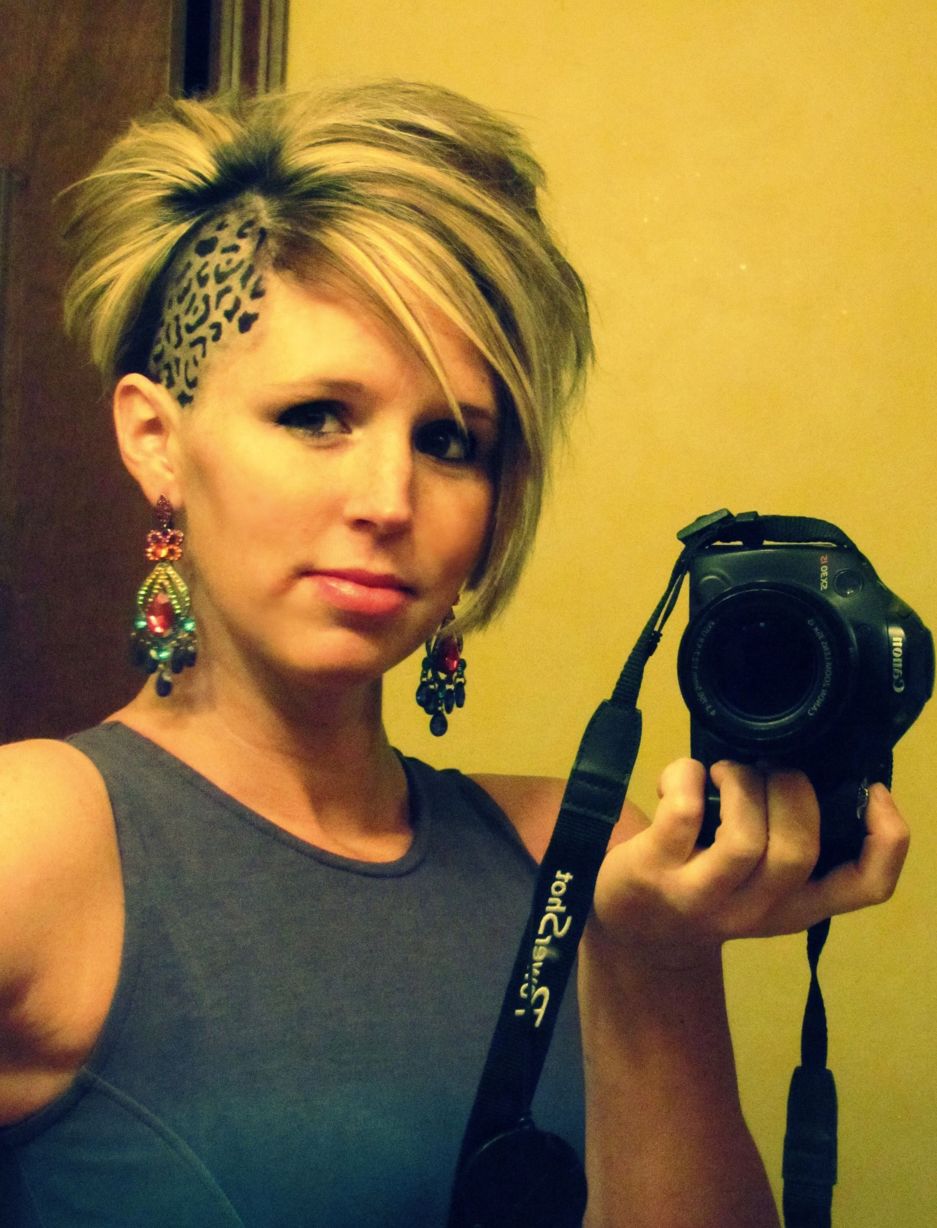 cheetah print undercut animal