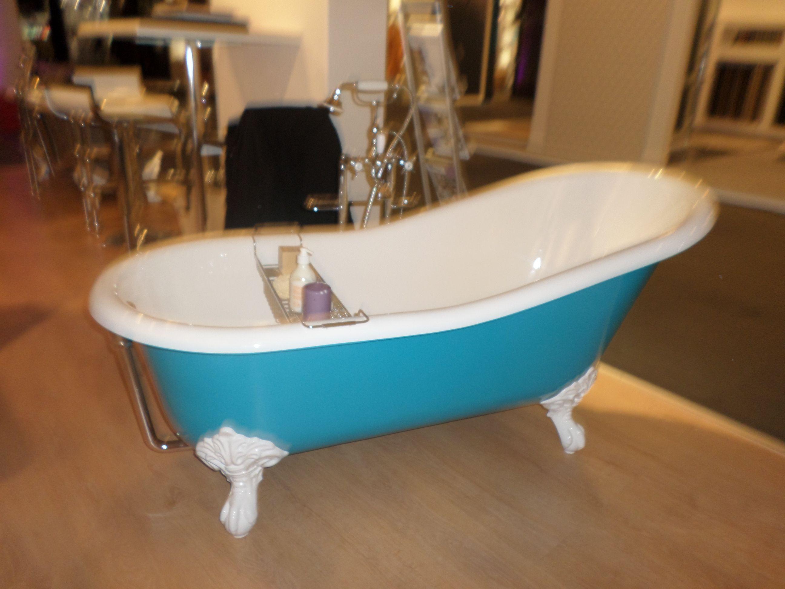 baignoire en fonte 154cm couleur bleu turquoise by bleu provence amsld r tro pinterest. Black Bedroom Furniture Sets. Home Design Ideas