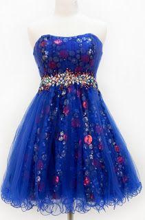 Pretty blue sequin sweet sixteen prom dresses