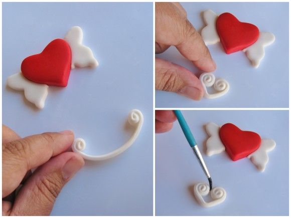 Valentine S Day Fondant Cupcake Toppers Recipe Fondant Cupcake