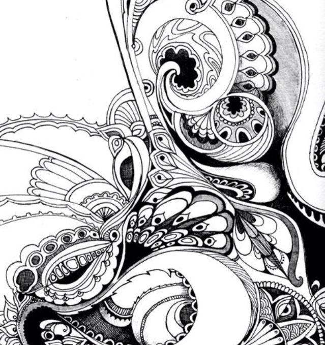 Pin de Ardis Ferdig en Zentangle   Pinterest   Abstracto