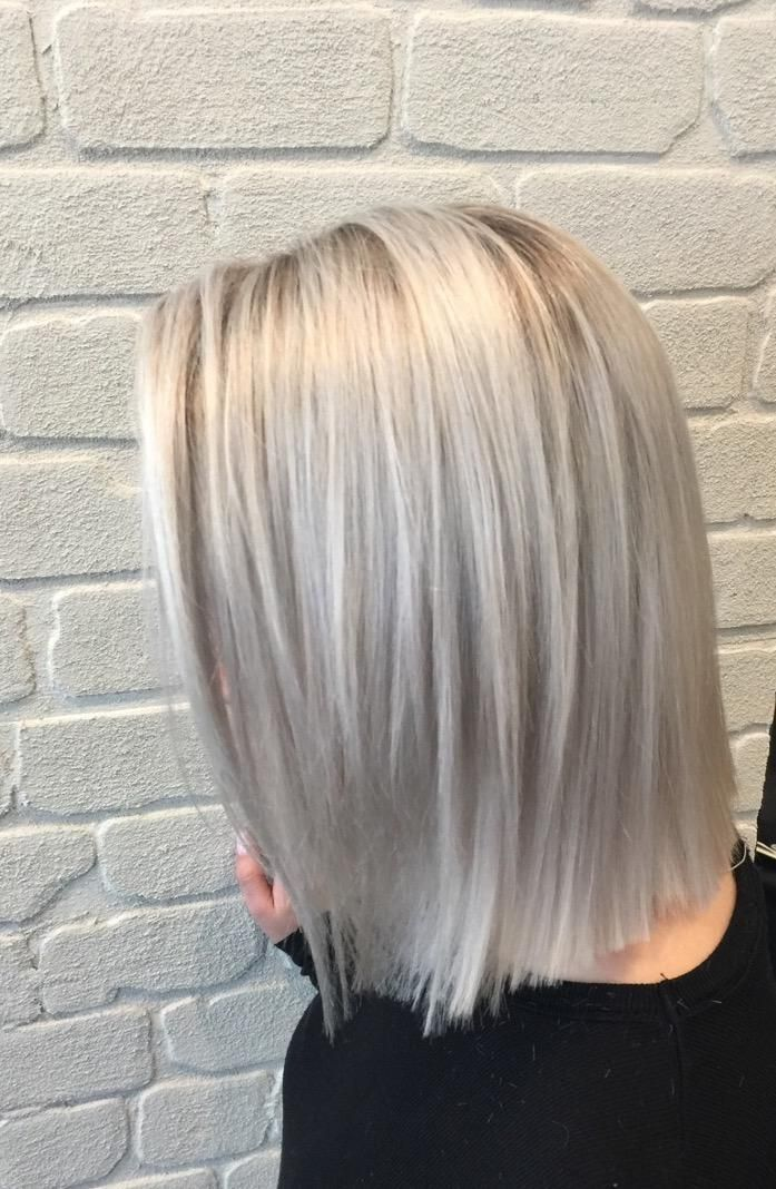 Cool Looking The Part Silver Blonde Color Correction