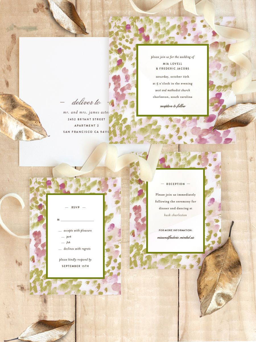 Spring brides will love Minted artist Sara Hicks Malone\'s Painted ...