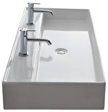 Image result for double width ceramic modern basin