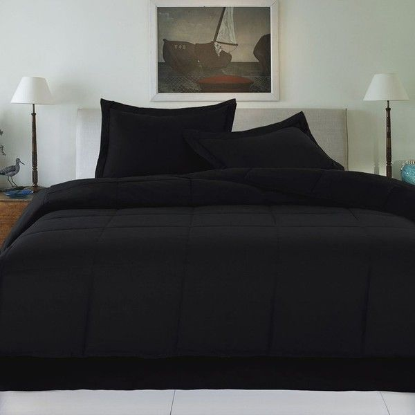 Cotton Loft Solid Comforter Black 120 Cad Liked On Polyvore Featuring Home