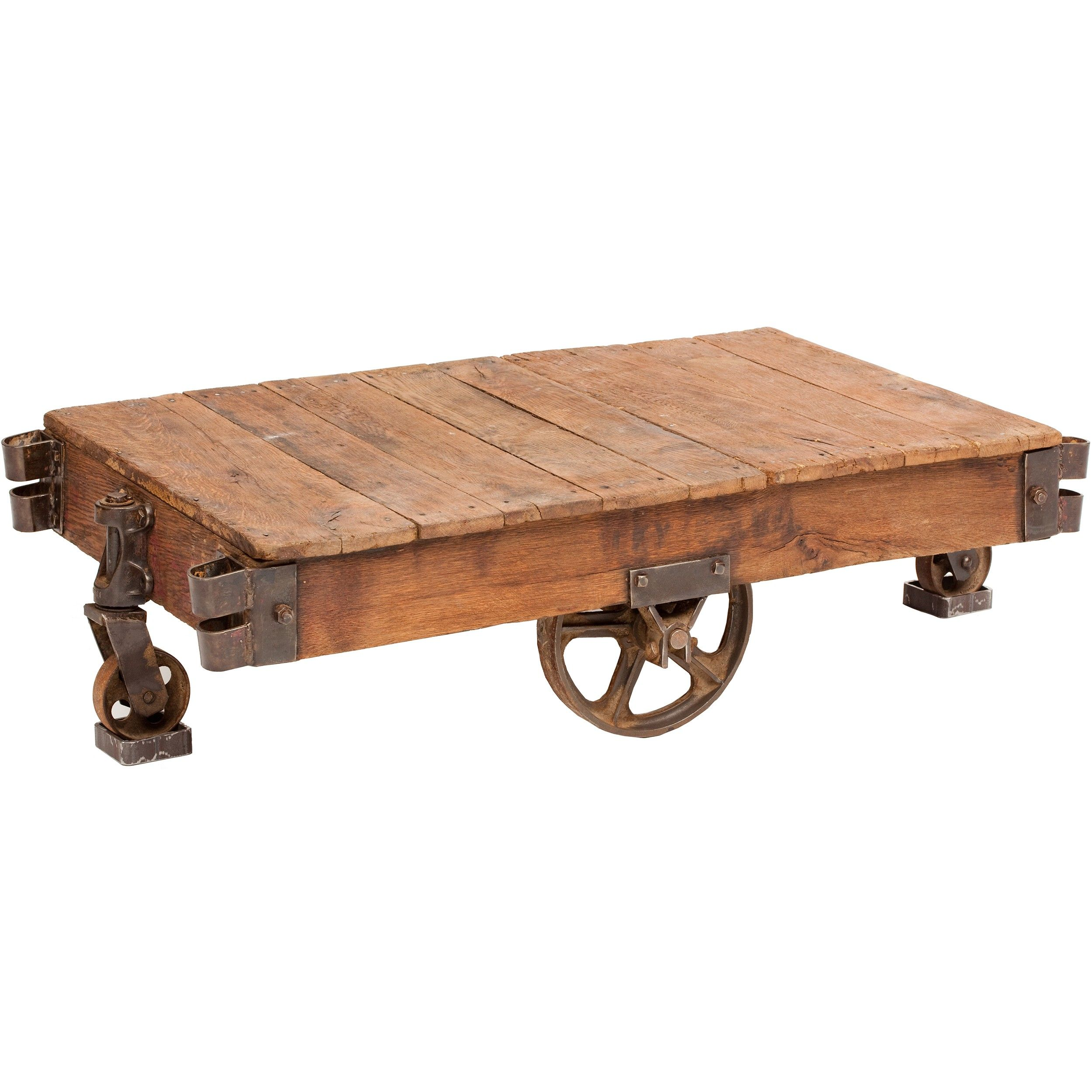 Railroad Cart Table Furniture Accent Tables Coffee Tables