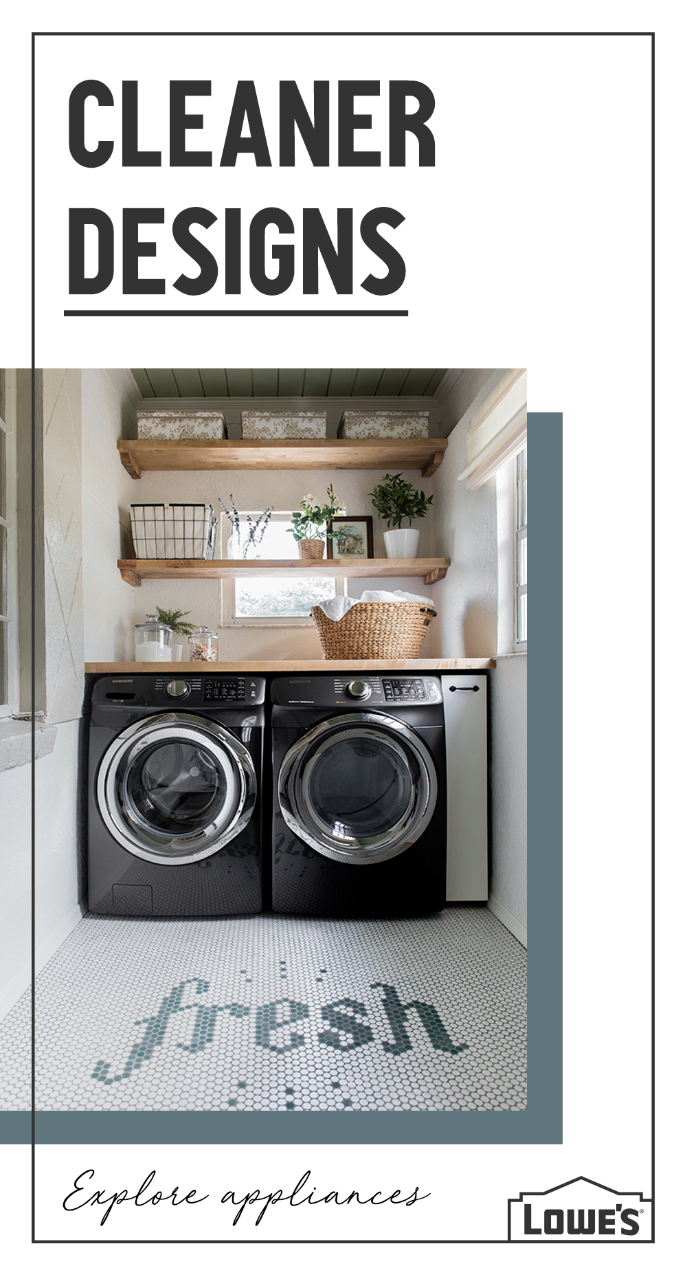 From Modern Appliances To Sleek Shelving Lowe S Has Everything You Need To Create Perfectly Laundry Room Decor Laundry Room Organization Laundry Room Remodel