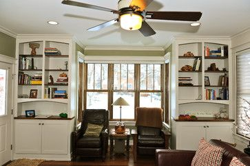 Painted White Built Ins With Stained Wood Counters Tops And Shelves And Living Room Furniture Styles Modern Furniture Living Room Casual Living Room Furniture