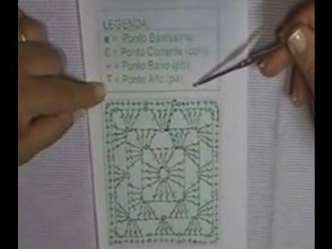 CROCHÊ 8 - Como ler gráficos de crochê (INICIANTES) - YouTube