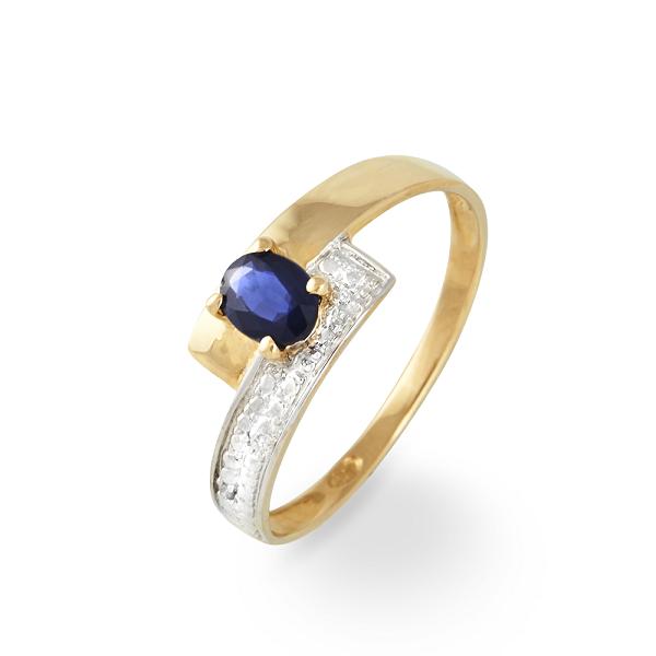 histoire d'or bague diamant saphir