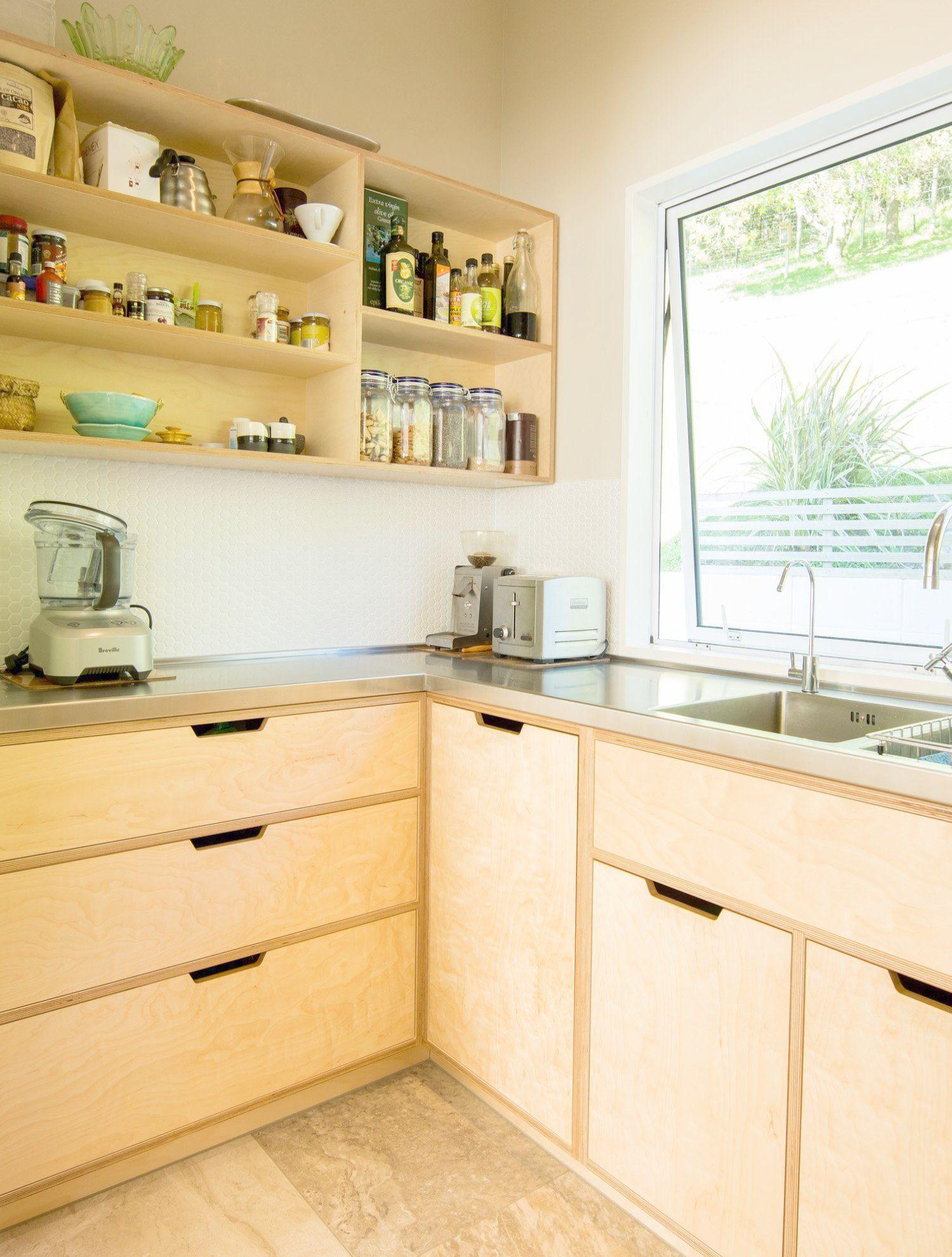 Boraam 98520 Sonoma Wire Brush Kitchen Cart Plywood Kitchen