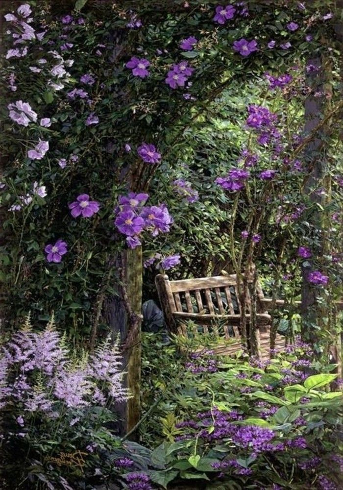 Photo of The garden bench – meeting point for romance and relaxation – Archzine.net