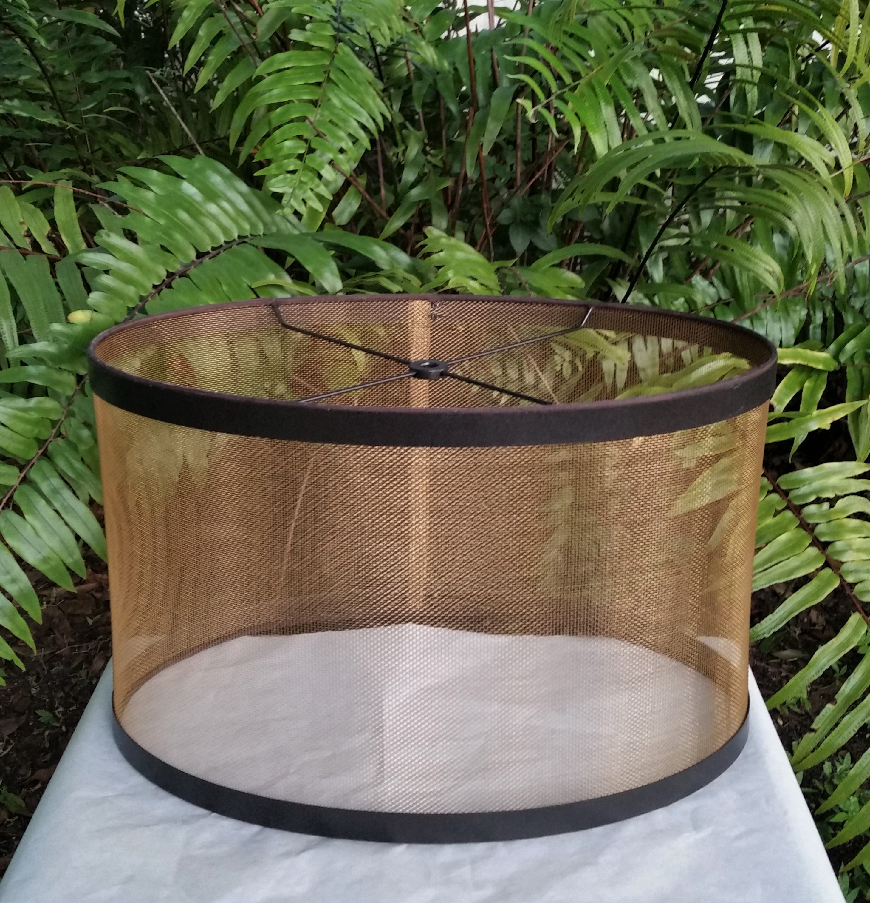 Mesh Lamp Shade Bronze Oval In 2020 Wire Lampshade Lamp Shade Drum Shade