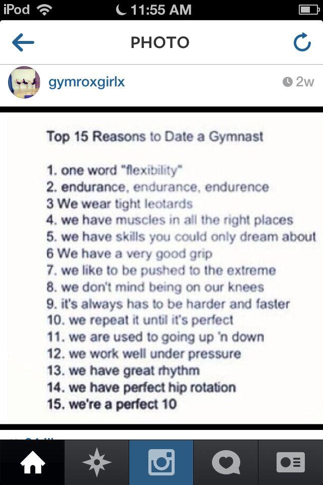 dating a gymnast