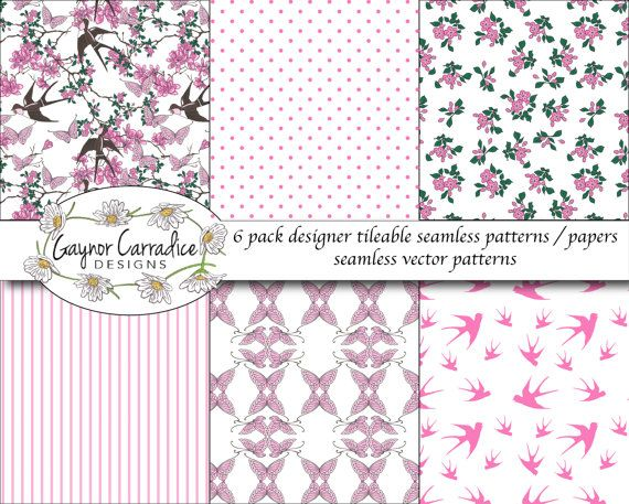 6 pack oriental seamless vector patterns by GaynorCarradice