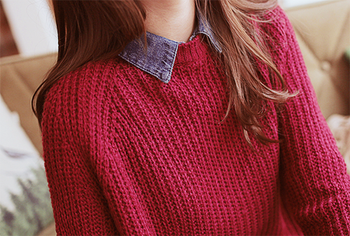 sweaters with collars. cant go wrong with this combination
