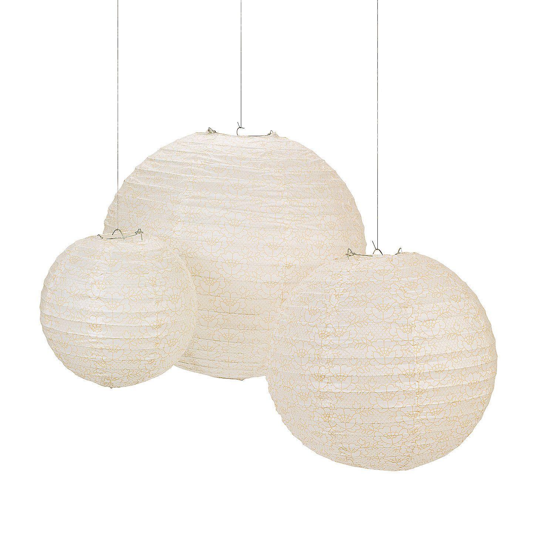 Lace Hanging Paper Lanterns | Paper lanterns, Wedding and Wedding
